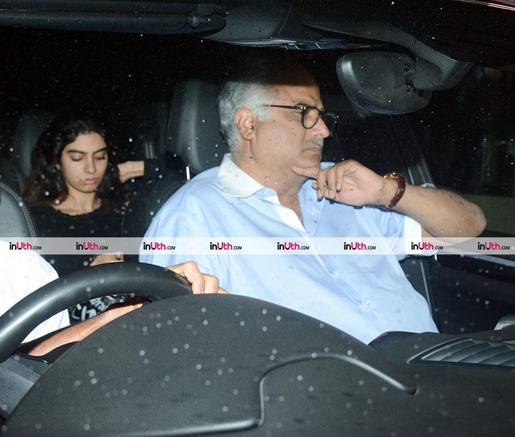 Boney and Khushi Kapoor at Hichki screening
