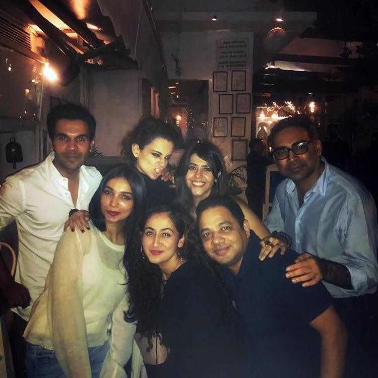 Ekta Kapoor with her Mental Hai Kya team
