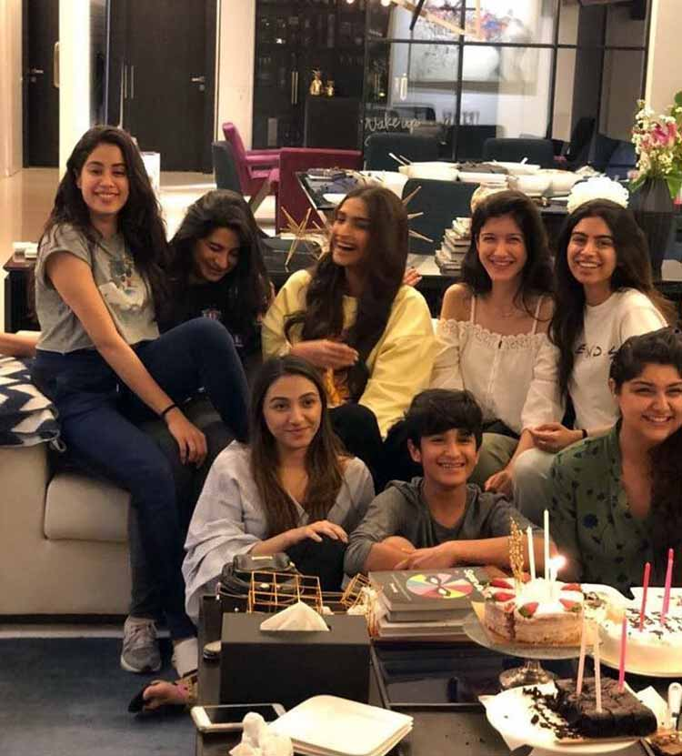 The Kapoor kids got together to celebrate Jahnvi Kapoor's birthday