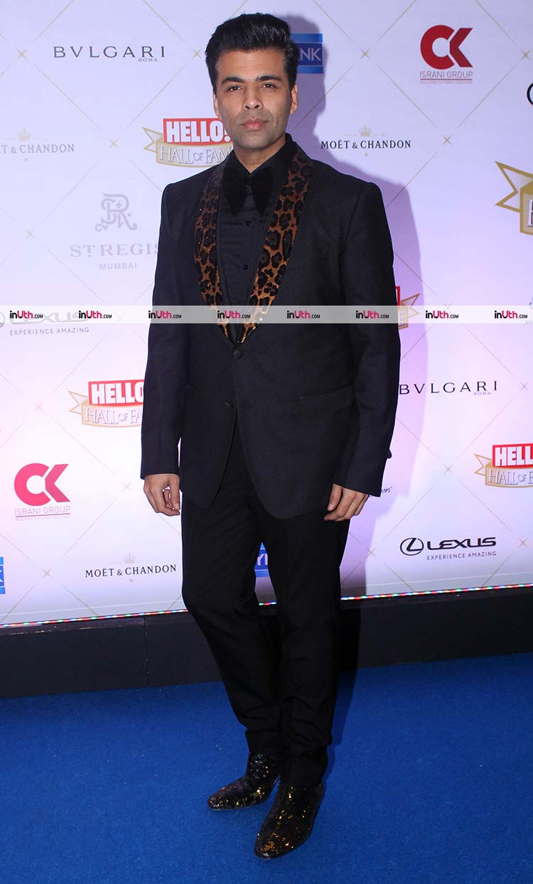 Karan Johar on Hello Hall of Fame Awards 2018 red carpet