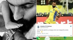 Tweeps Laud Footballer CK Vineeth Writing 'NIL' Religion On Son's Birth Certificate
