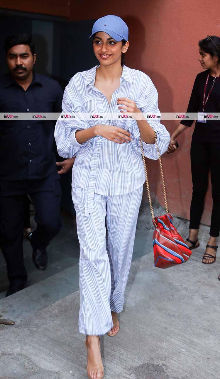 Banita Sandhu snapped in Mumbai during October promotions