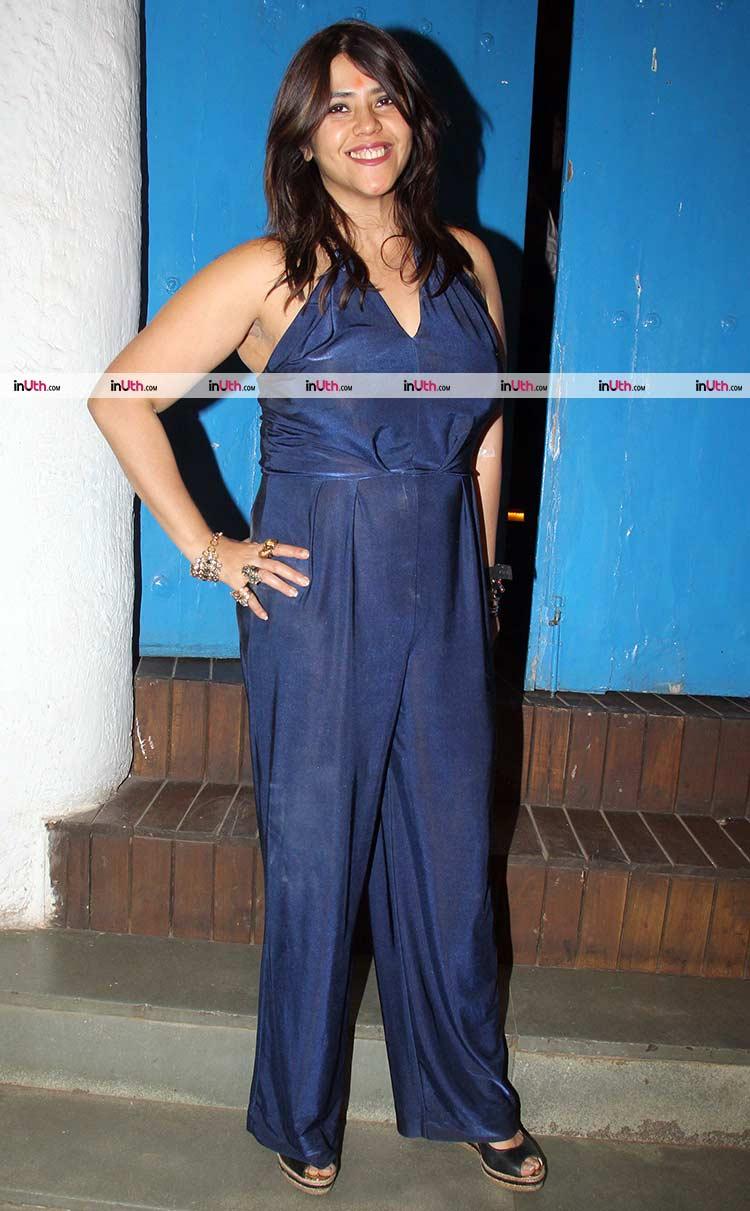 Ekta Kapoor snapped while partying with Mental Hai Kya team