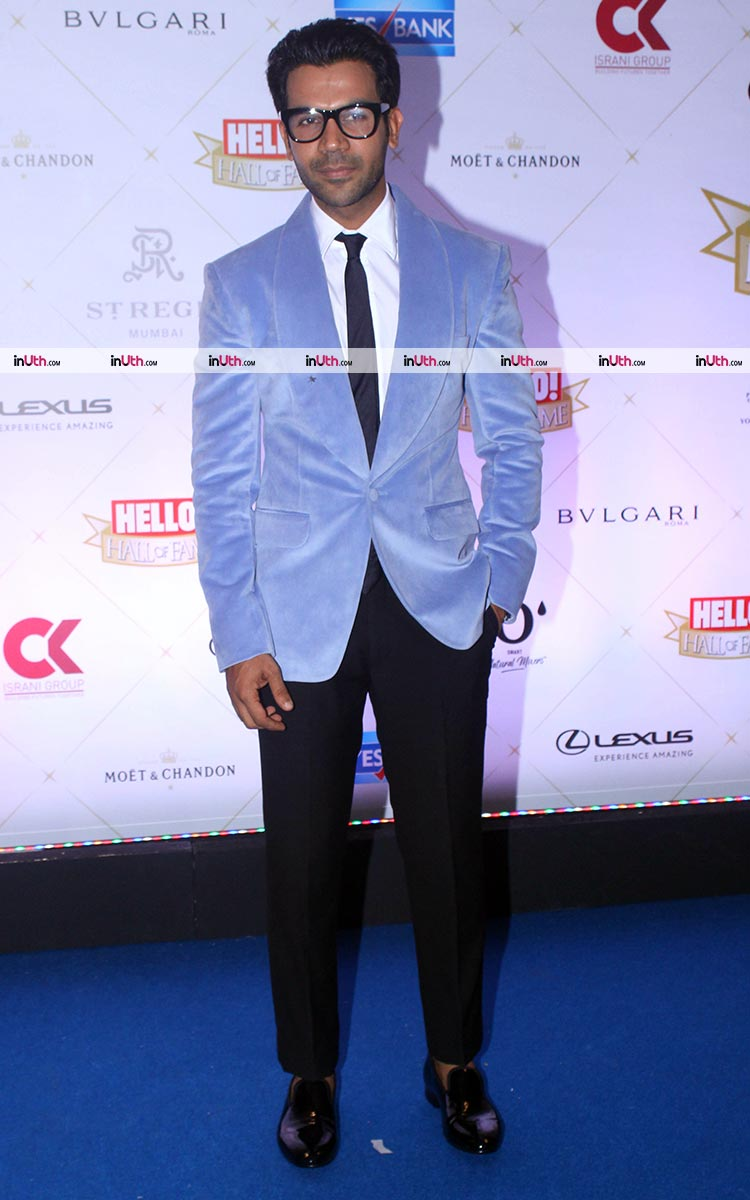Rajkummar Rao on Hello Hall Hall of Fame Awards 2018 red carpet
