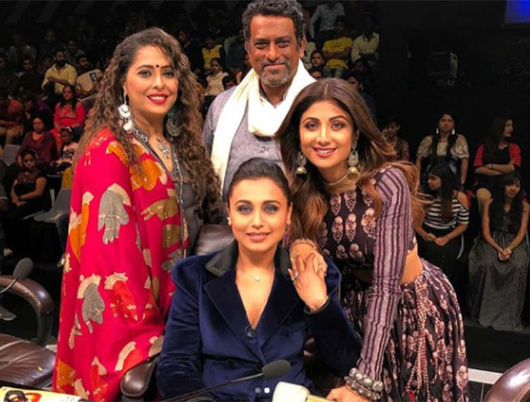 Rani Mukerji on the sets of Super Dancer 2 for Hichki promotions