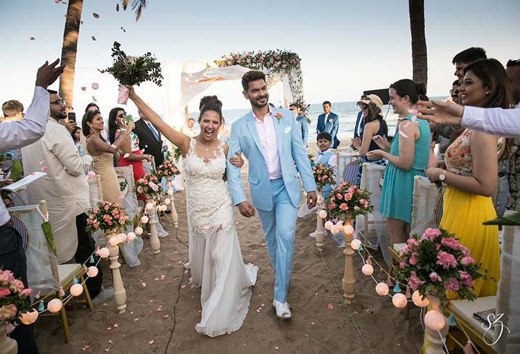 Rochelle Rao and Keith Sequeira had the perfect beach wedding