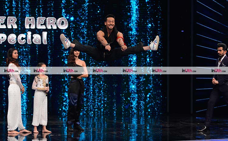 Tiger Shroff performing on Super Dancer 2 for Baaghi 2 promotions