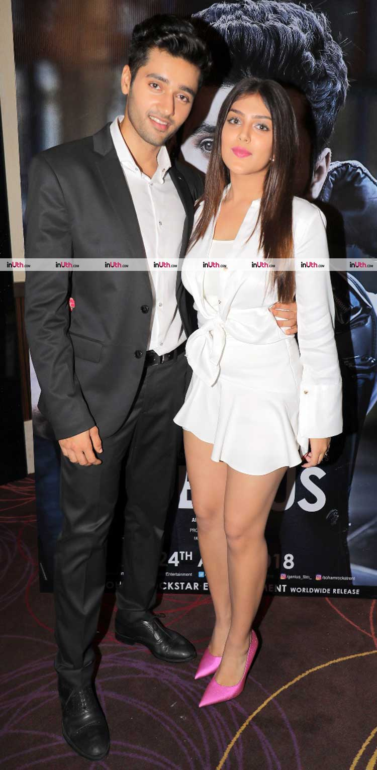 Utkarsh Sharma with Ishita Chauhan at Genius wrap-up party