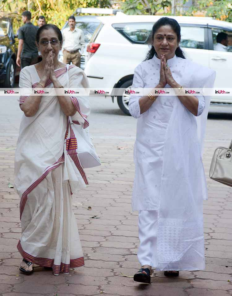 Aruna Irani at actress Shammi's prayer meet