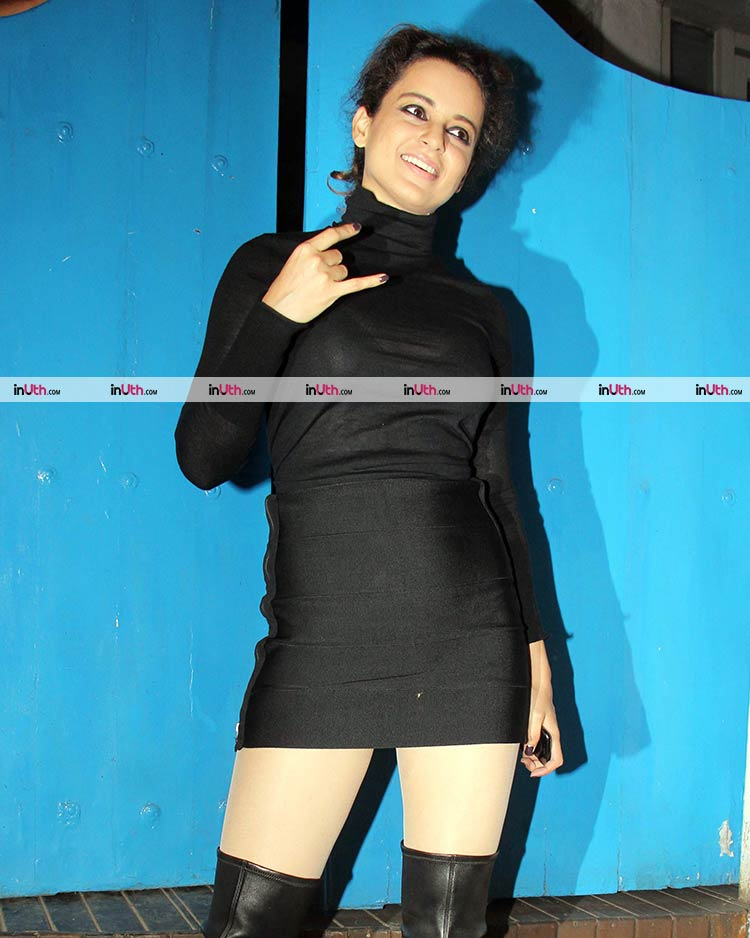 Kangana Ranaut sports a gothic look for Mental Hai Kya team party
