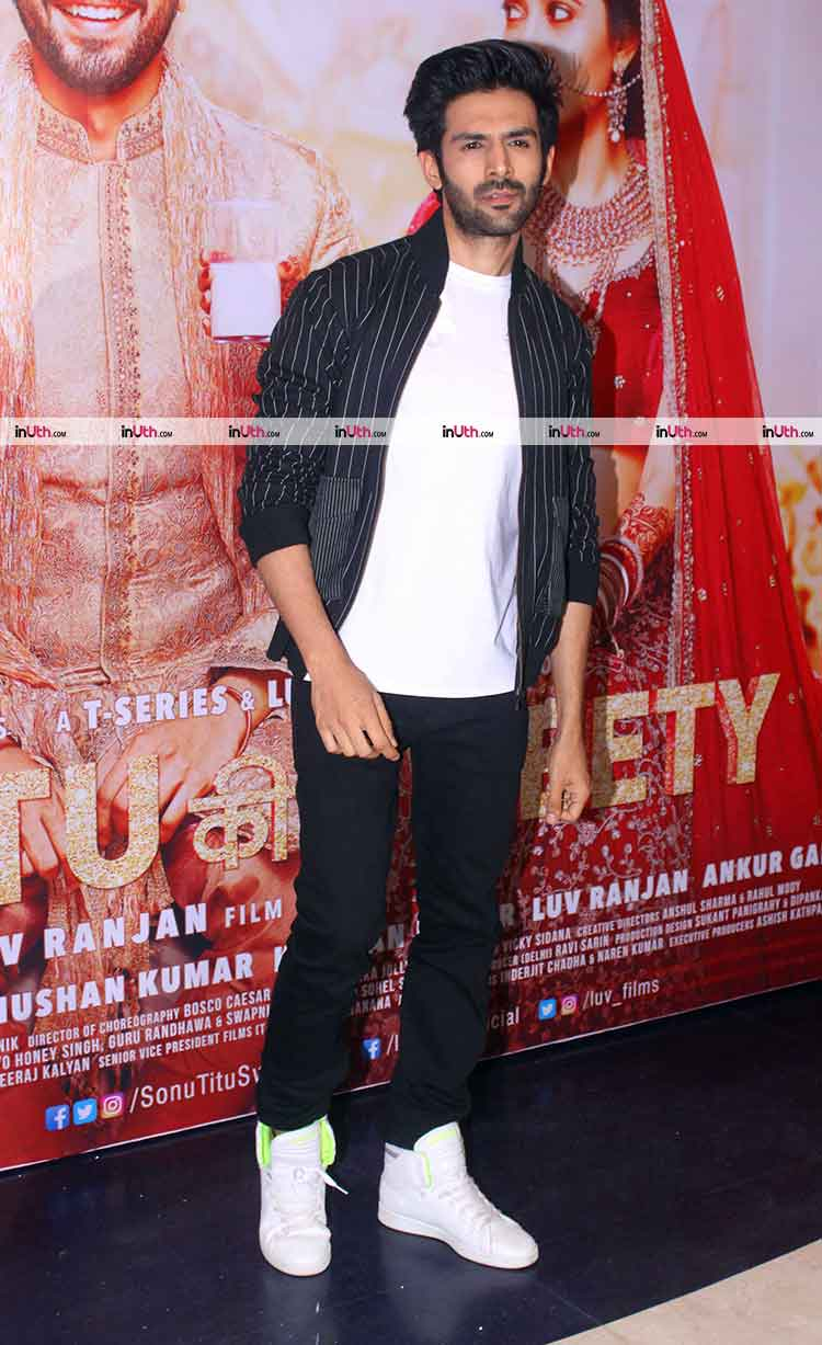 Kartik Aaryan at Sonu Ke Titu Ki Sweety success bash