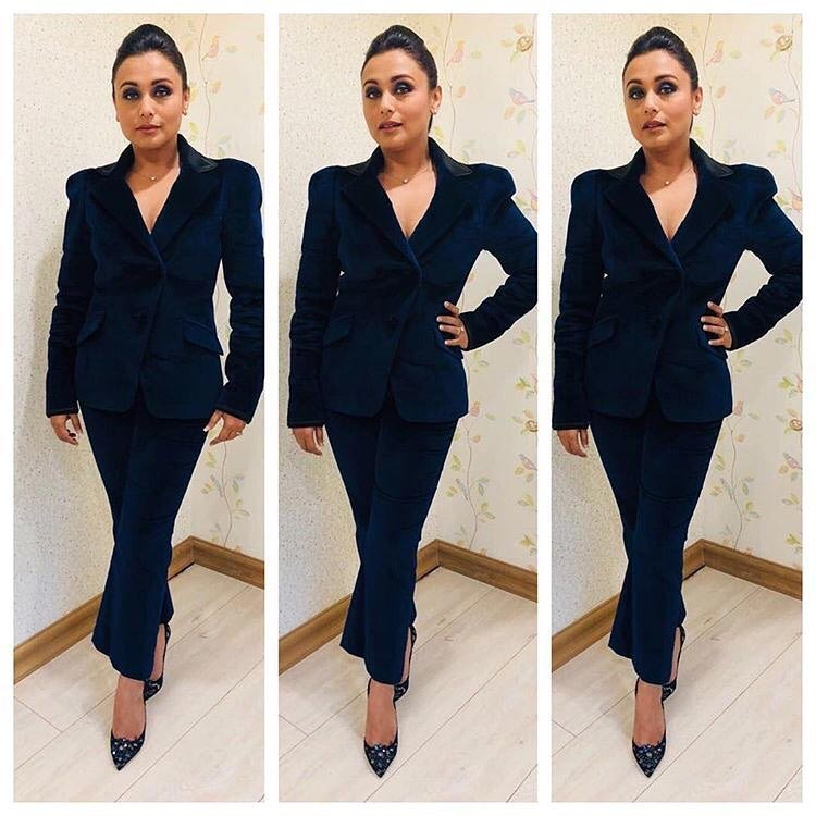 Rani Mukerji's look for Hichki promotion on Super Dancer 2