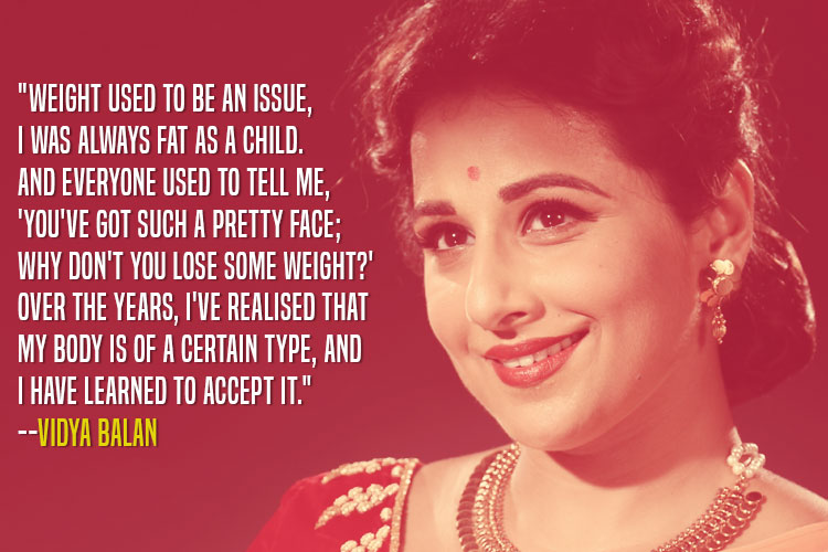 Vidya Balan speaking about body positivity like a pro