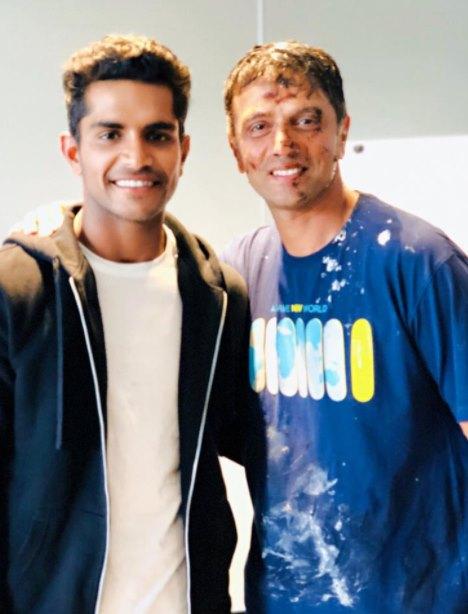 Mavi with Rahul Dravid