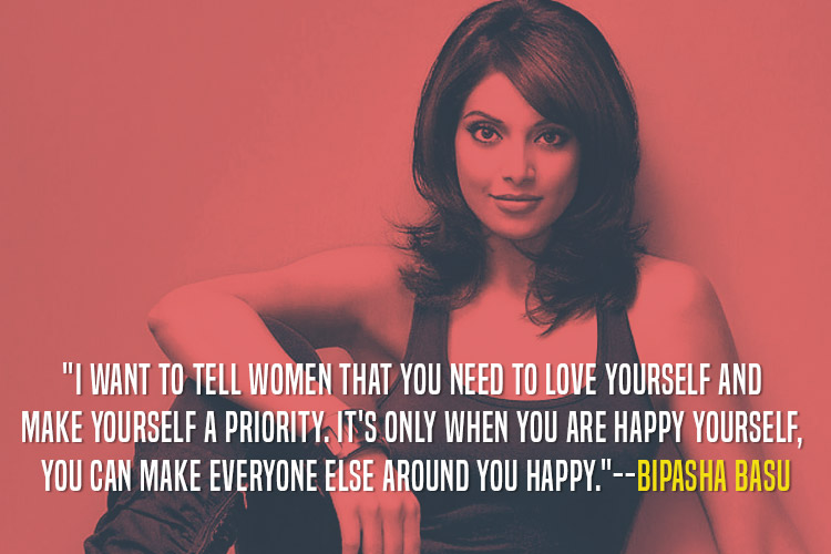 Bipasha Basu telling how important it is for women to take care of themselves