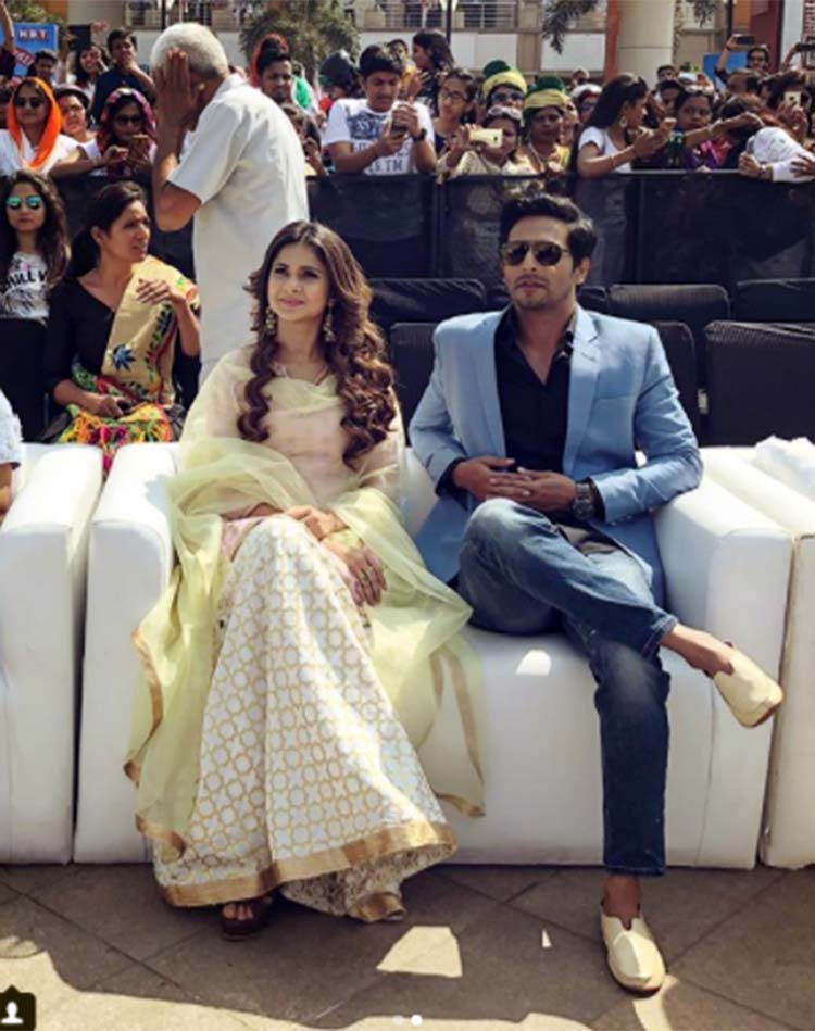 Jennifer Winget and Sehban Azim in Delhi for Bepannaah promotions
