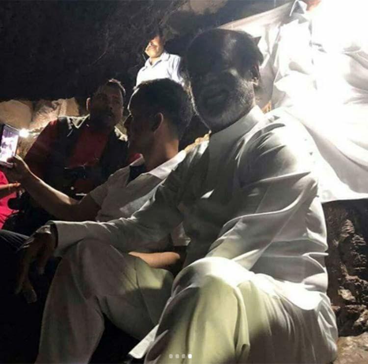 Rajinikanth's pic from his Himalayan trip