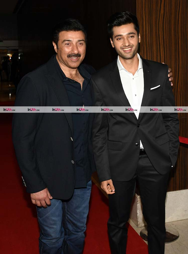 Sunny Deol with Utkarsh Sharma at Genius wrap-up party