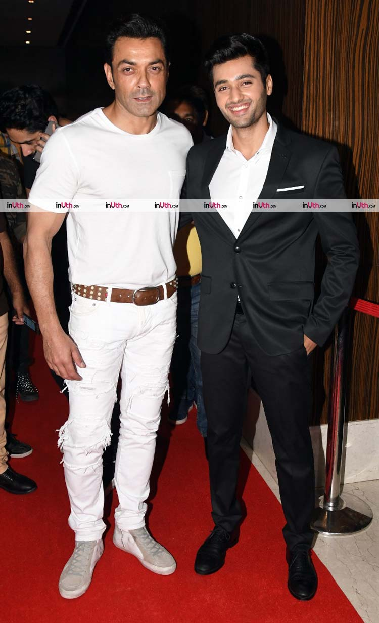 Bobby Deol with Utkarsh Sharma at Genius wrap-up party