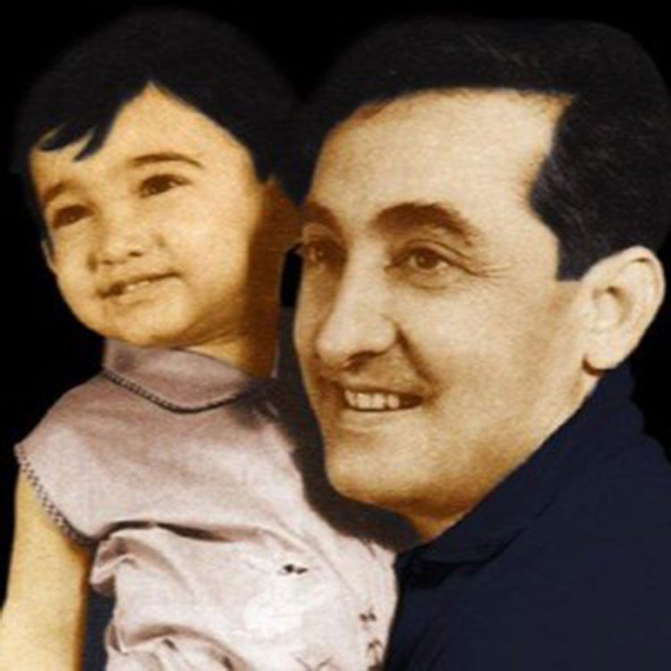 Aamir Khan with his father Tahir Hussain