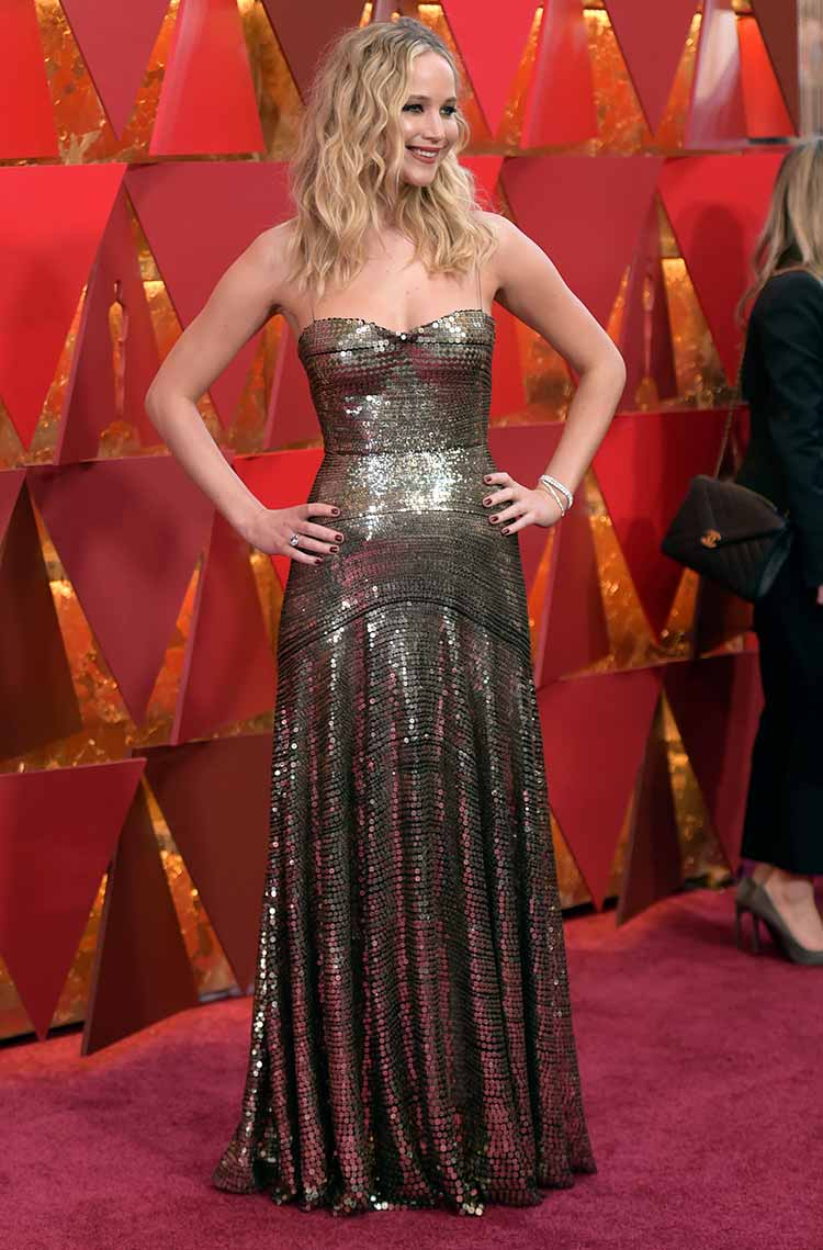 Jennifer Lawrence at the Academy Awards 2018