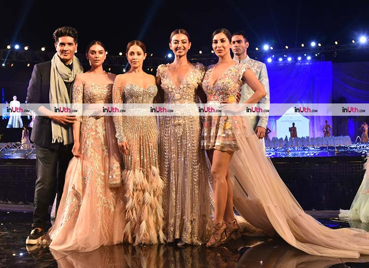 Manish Malhotra with his showstoppers for the night
