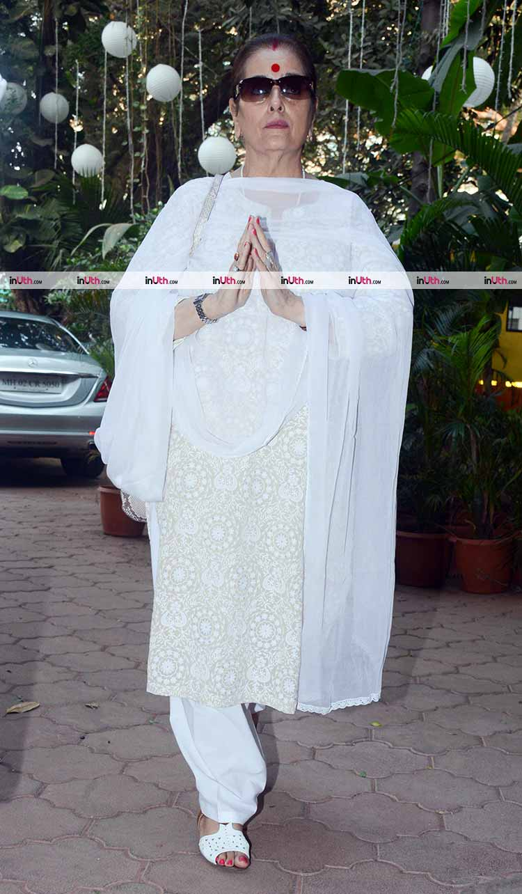 Poonam Sinha at veteran actress Shammi's prayer meet