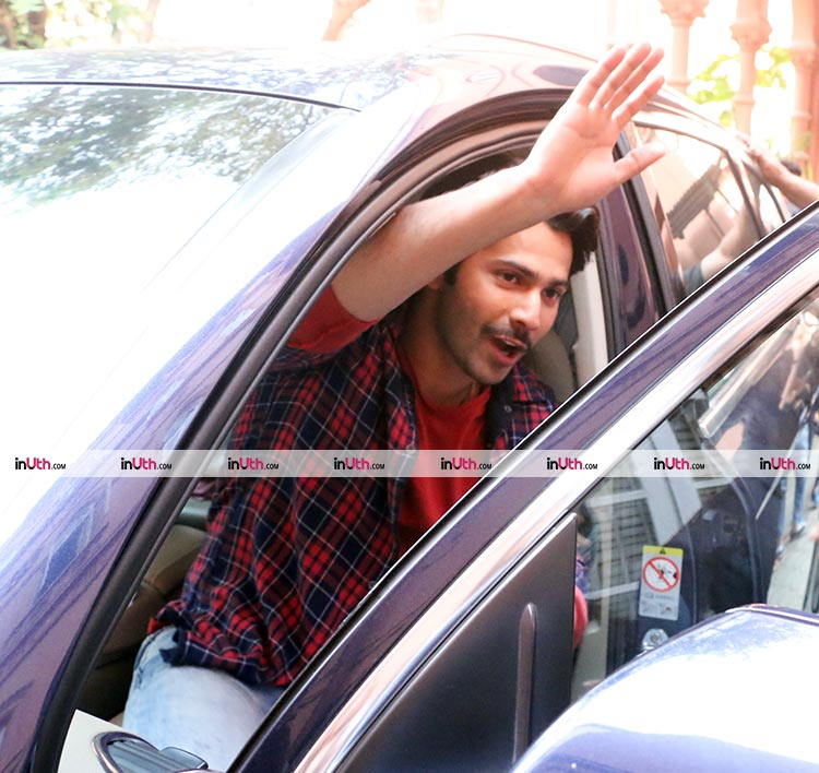 Varun Dhawan snapped while promoting October