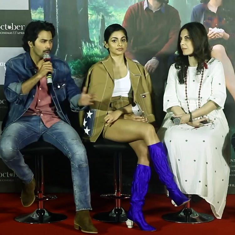 Banita Sandhu shares a snippet from the October trailer launch on Instagram