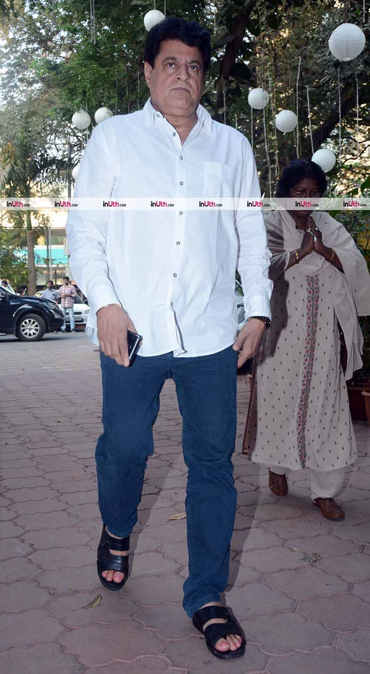 Gajendra Chauhan at veteran actress Shammi's prayer meet