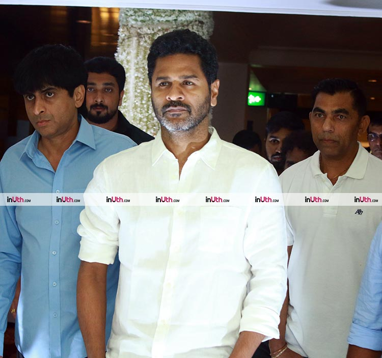 Prabhu Deva at Sridevi's prayer meet in Chennai