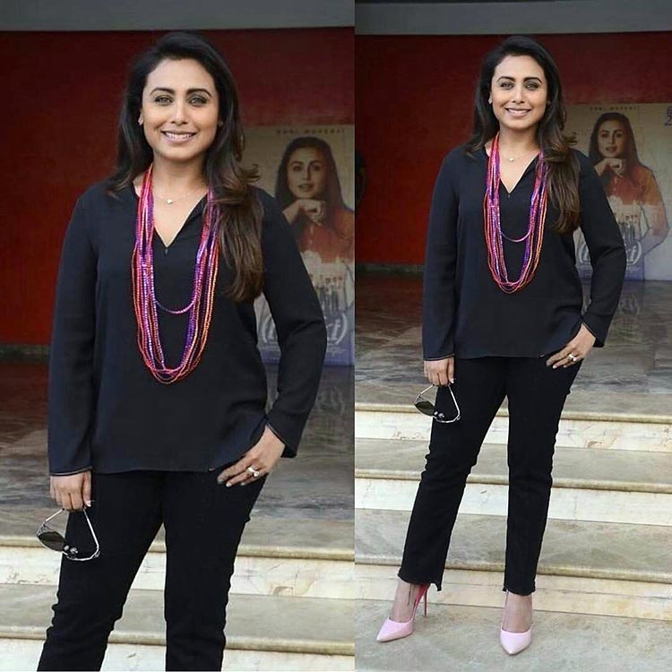 Rani Mukerji snapped at Hichki promotions