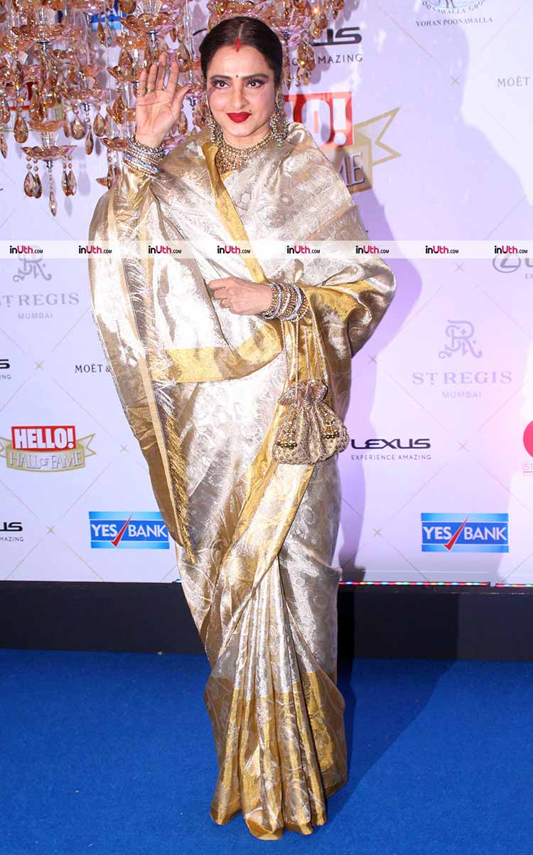 Rekha on Hello Hall of Fame Awards 2018 red carpet
