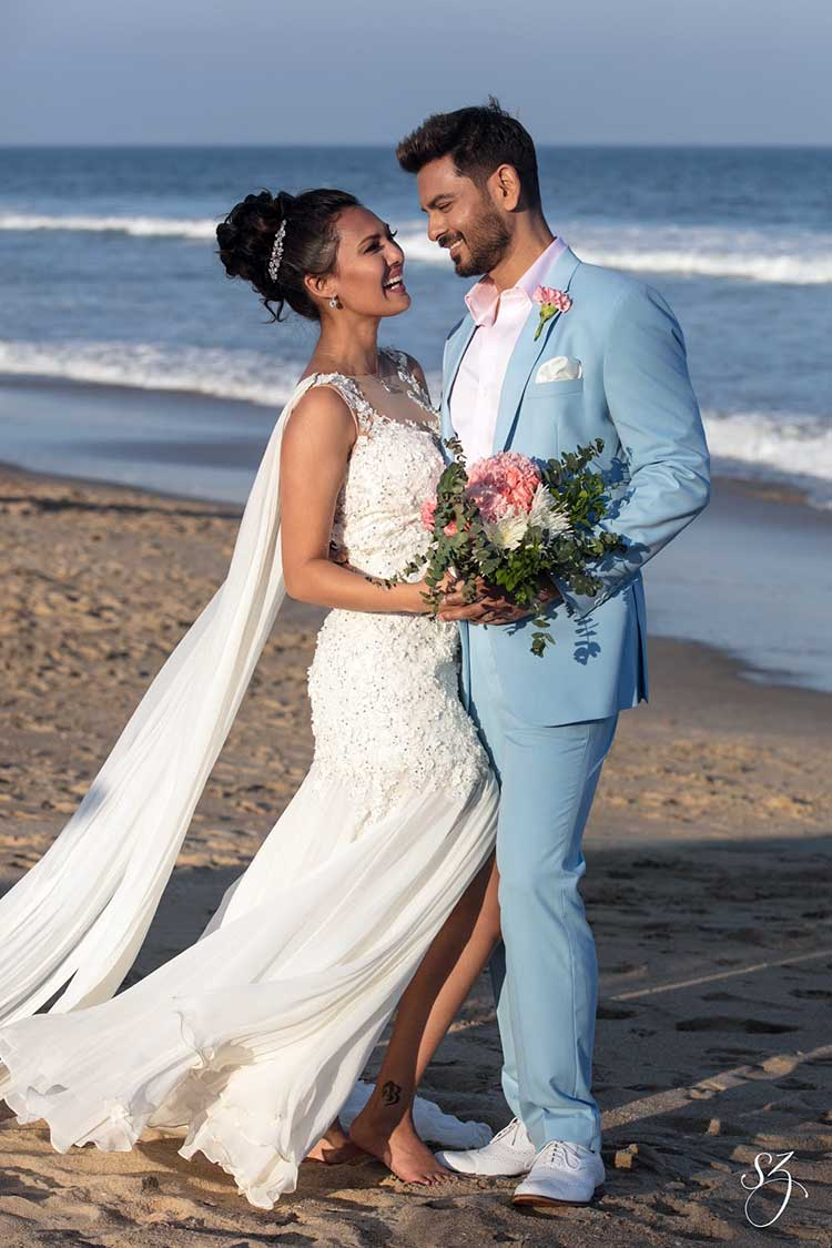 Rochelle Rao and Keith Sequeira at their wedding