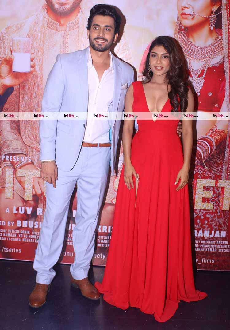 Sunny Nijar with Ishita Raj Sharma at Sonu Ke Titu Ki Sweety success party