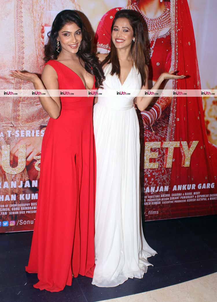 Nushrat Bharucha and Ishita Raj Sharma at Sonu Ke Titu Ki Sweety success party