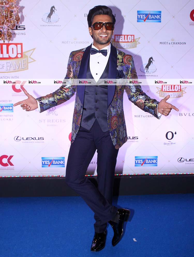Ranveer Singh on Hello Hall of Fame Awards 2018 red carpet