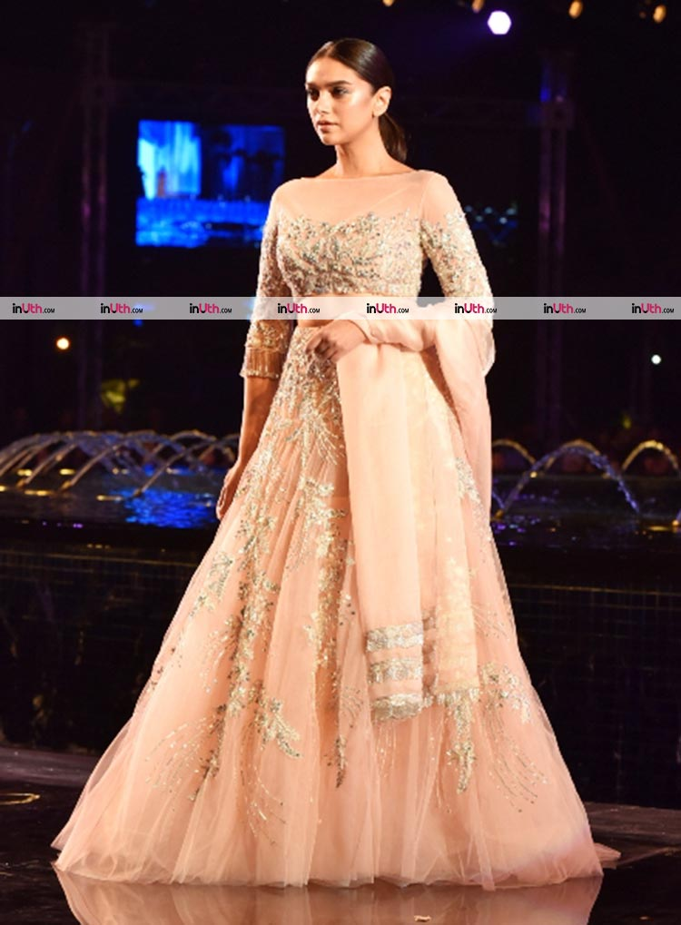 Aditi Rao Hydari walking the ramp for Manish Malhotra