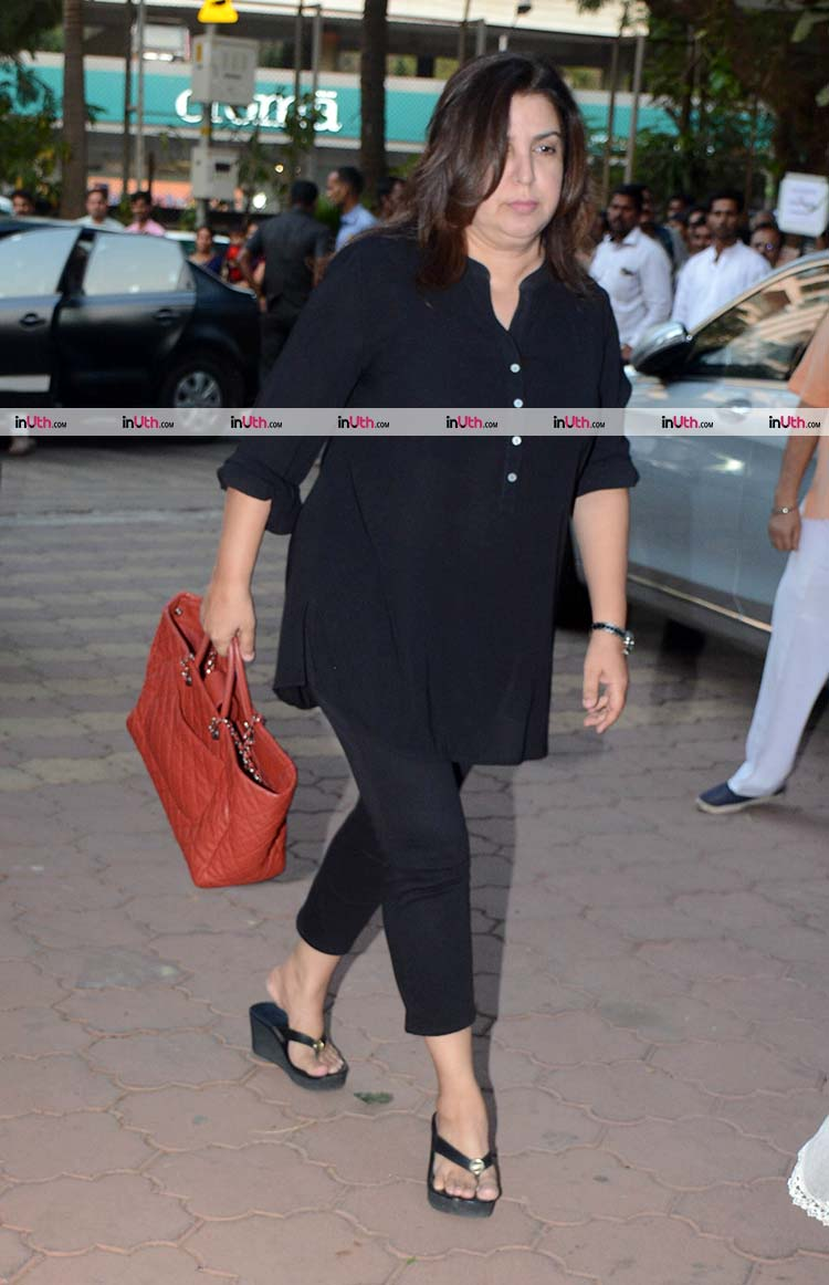 Farah Khan at veteran actress Shammi's prayer meet