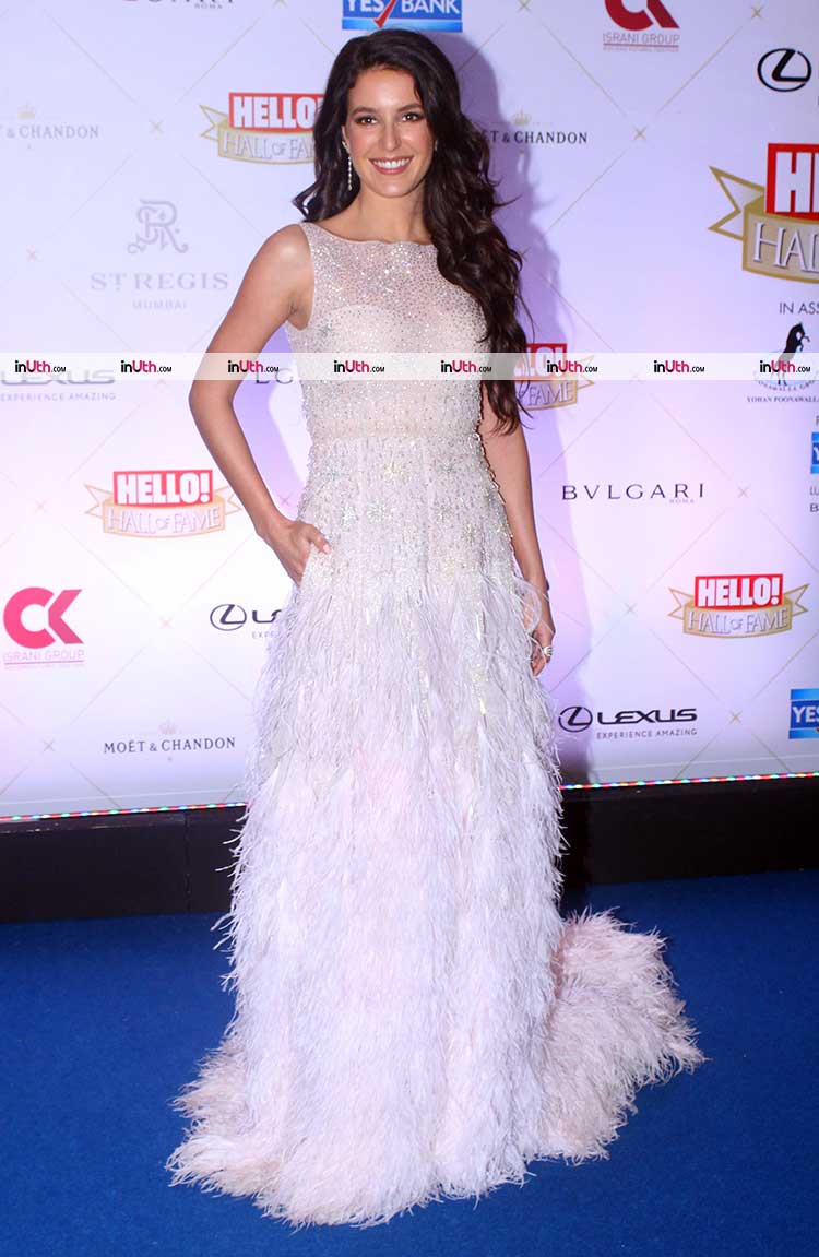 Isabelle Kaif on Hello Hall of Fame Awards 2018 red carpet