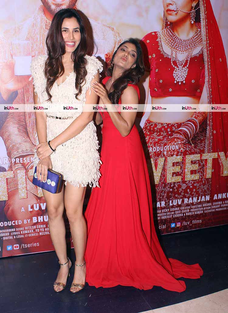 Sonnalli Seygall and Ishita Raj Sharma at Sonu Ke Titu Ki Sweety success party