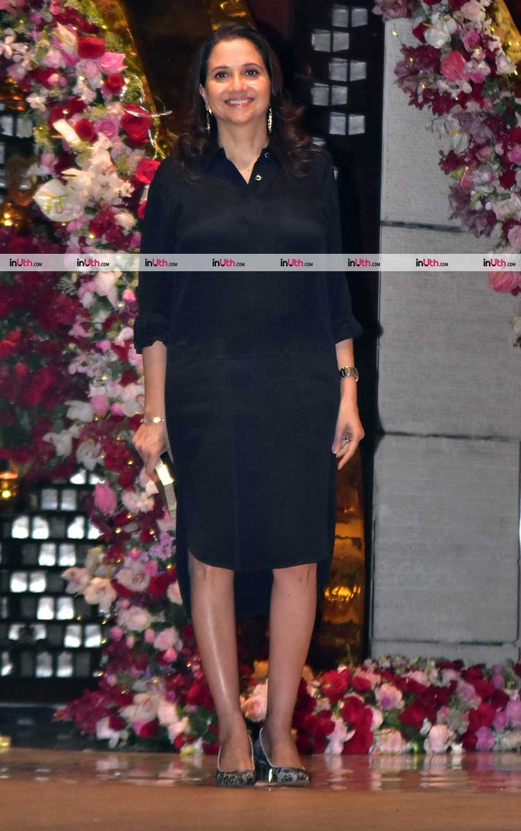 Anupama Chopra at Akash Ambani, Shloka Mehta engagement party