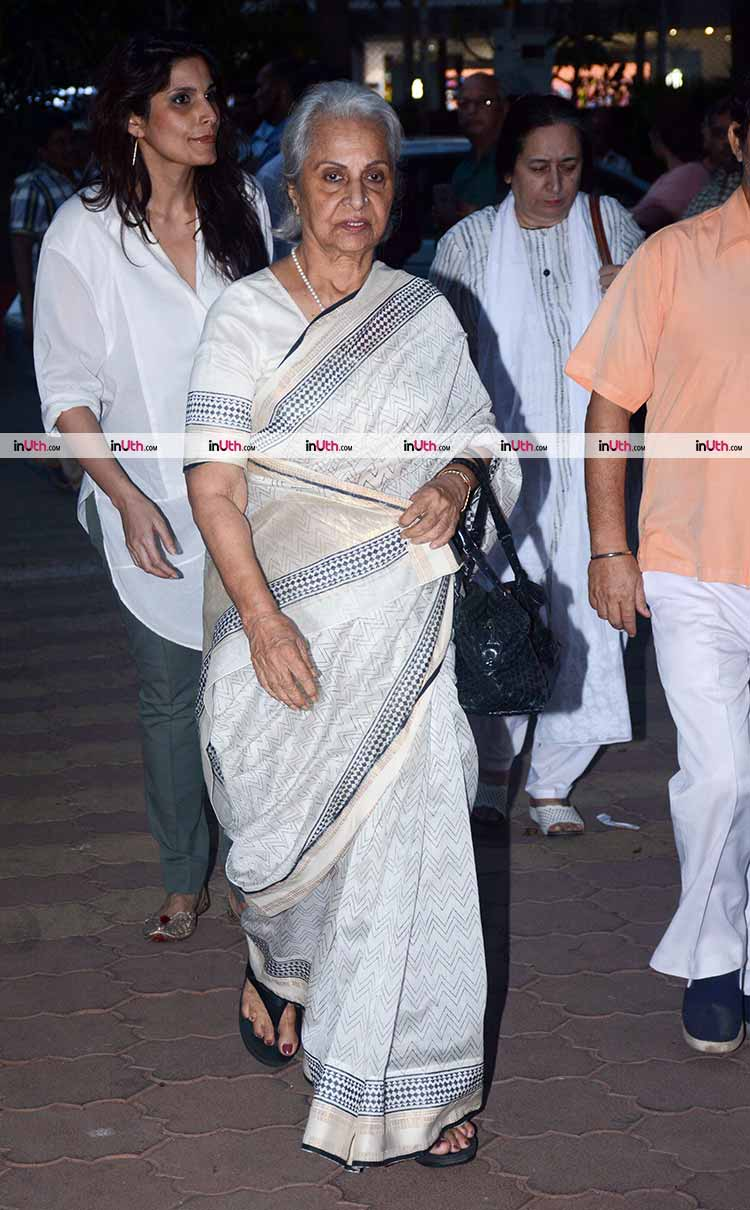 Waheeda Rehman at veteran actress Shammi's prayer meet