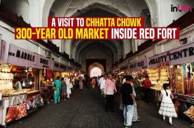 Chhatta Chowk Bazaar inside the Red Fort