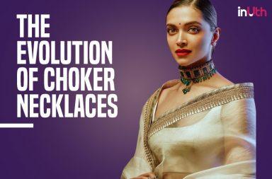 Deepika Padukone wearing a choker necklace