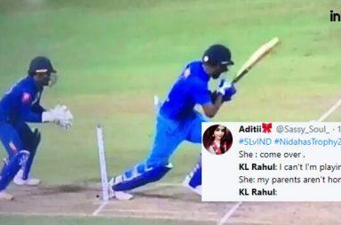 KL Rahul hit wicket, KL Rahul weird dismissal, India vs Sri Lanka T20I 2018, Nidahas Trophy 2018, Indian batsman to get out hit wicket in T20Is, Batsman to get hitwicket in T20Is