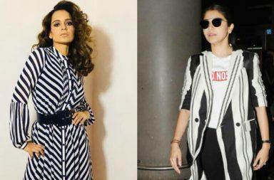 Kangana Ranaut, Anushka Sharma in monochrome stripes
