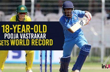 Pooja Vastrakar record, Pooja Vastrakar World Record, Pooja Vastrakar maiden fifty, Pooja Vastrakar ODI records, Pooja Vastrakar 56-ball 51, India Women vs Australia Women 1st ODI 2018, Australia Women's tour India 2018