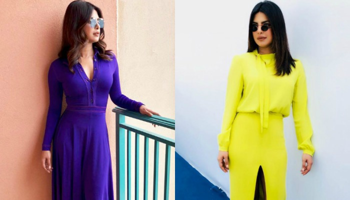 Priyanka Chopra's Love For Solid Colour Dresses Sets A New Fashion Trend For 2018