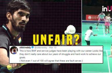 Kidambi Srikanth, Sikki Reddy, Kidambi Srikanth service video, Sikki Reddy services video, Sikki Reddy angry, Sikki Reddy Twitter, Kidambi Srikanth angry, Poor umpiring All England Open
